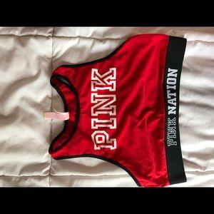 Highneck PINK sport bra